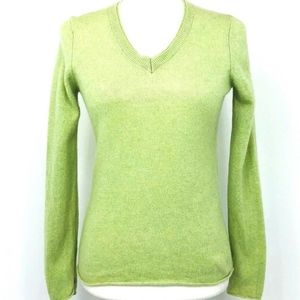 CASHMERE CACHE Sweater 100% Cashmere V-Neck Long S